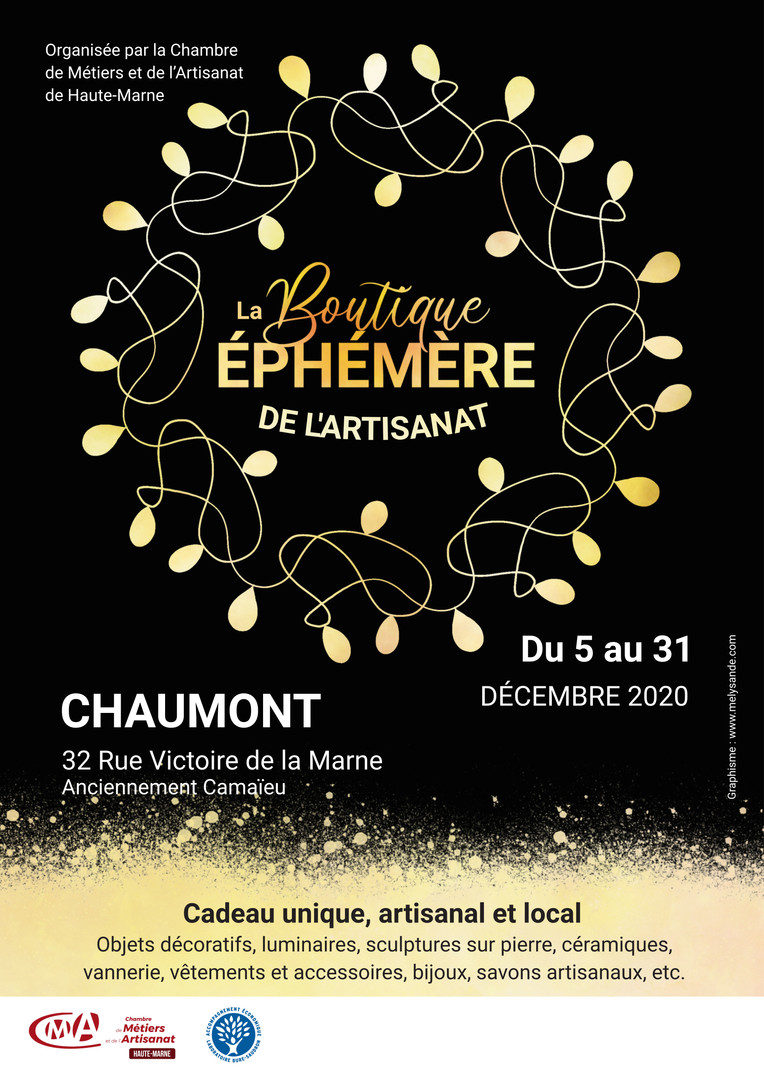 BOUTIQUE EPHEMERE - CMA Haute-Marne