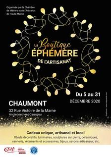 BOUTIQUE EPHEMERE - CMA Haute-Marne