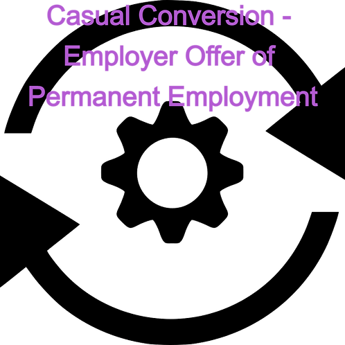 Casual Conversion Letter - Employer Offer of Permanent Employment