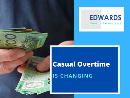 Overtime for Casuals is Changing
