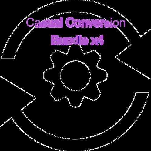 Casual Conversion Letter Bundle x4