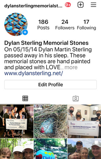 Dylan Sterling Memorial Stones is on Instagram!