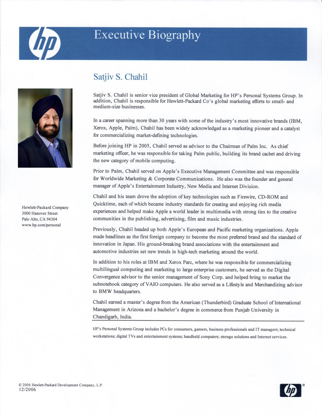 HP Biography