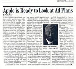 (1996) ADWEEK Apple Ad Plans