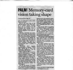 San Jose Mercury _Memory-card vision..._