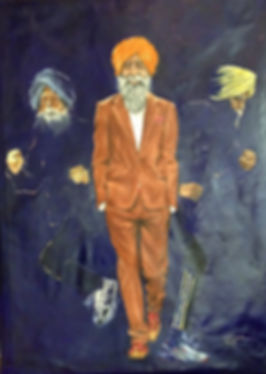 Fauja Singh Paining by Veramaria Portrait Painter