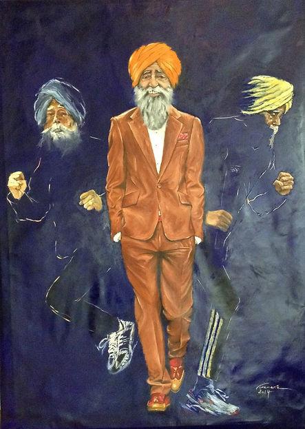 Fauja Singh Paining by Veramaria Portrait Painter