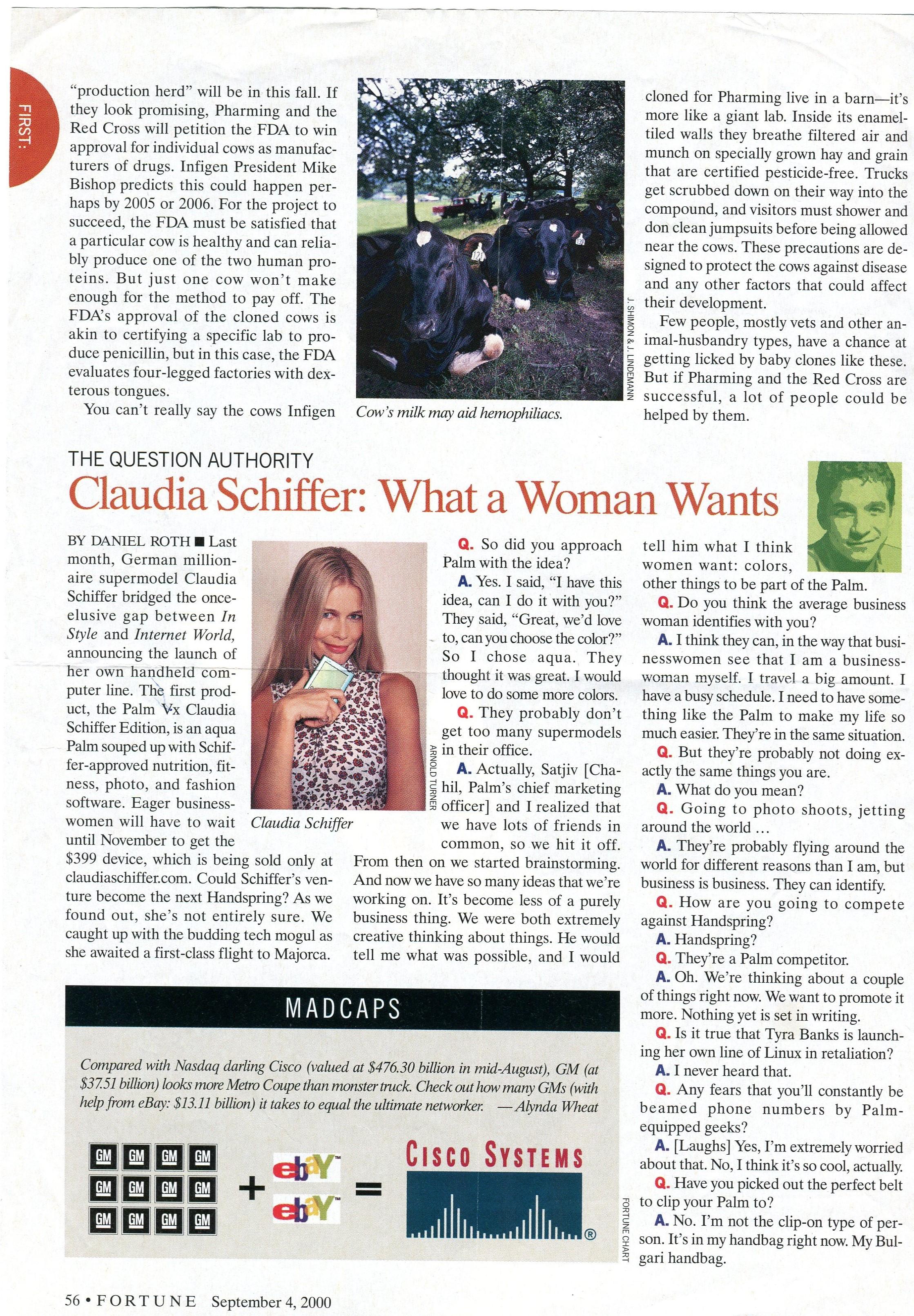 (2000) Fortune Claudia Schiffer