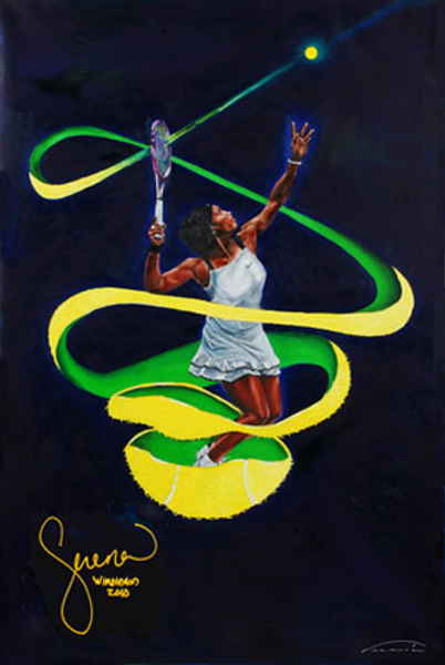 Serena Williams painting by Veramaria