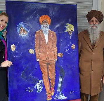 Fauja Singh marathon runner and Veramaria