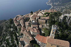 Aerial view of eze france