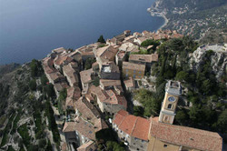 Aerial view of the Eze Village
