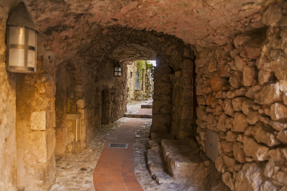 Ancient stone walkway in Eze Village