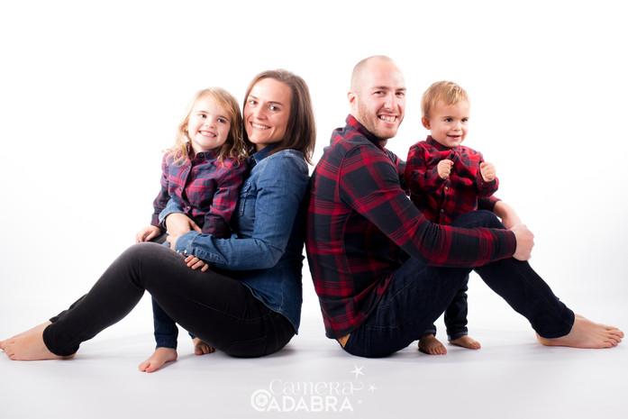 Familieportret in studio
