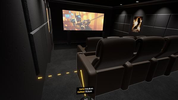 Kino mit Bilder und Film Sicht vom Hinte