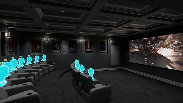 Kino mit Bilder und Film Seitenansicht m