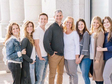 Spring Family Session at the Salt Lake Capitol Building - The Cannon Family