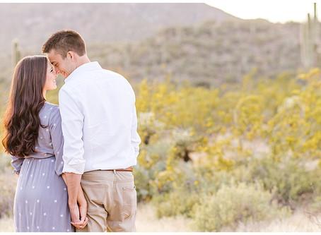 Desert Shoot in Cave Creek, Arizona - Jen & Daelun