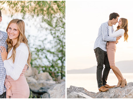 Utah Lake Couples Session - Tommy and Kimber