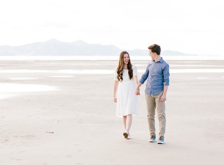 The Great Saltair Engagement Session - Sarah & Andrew