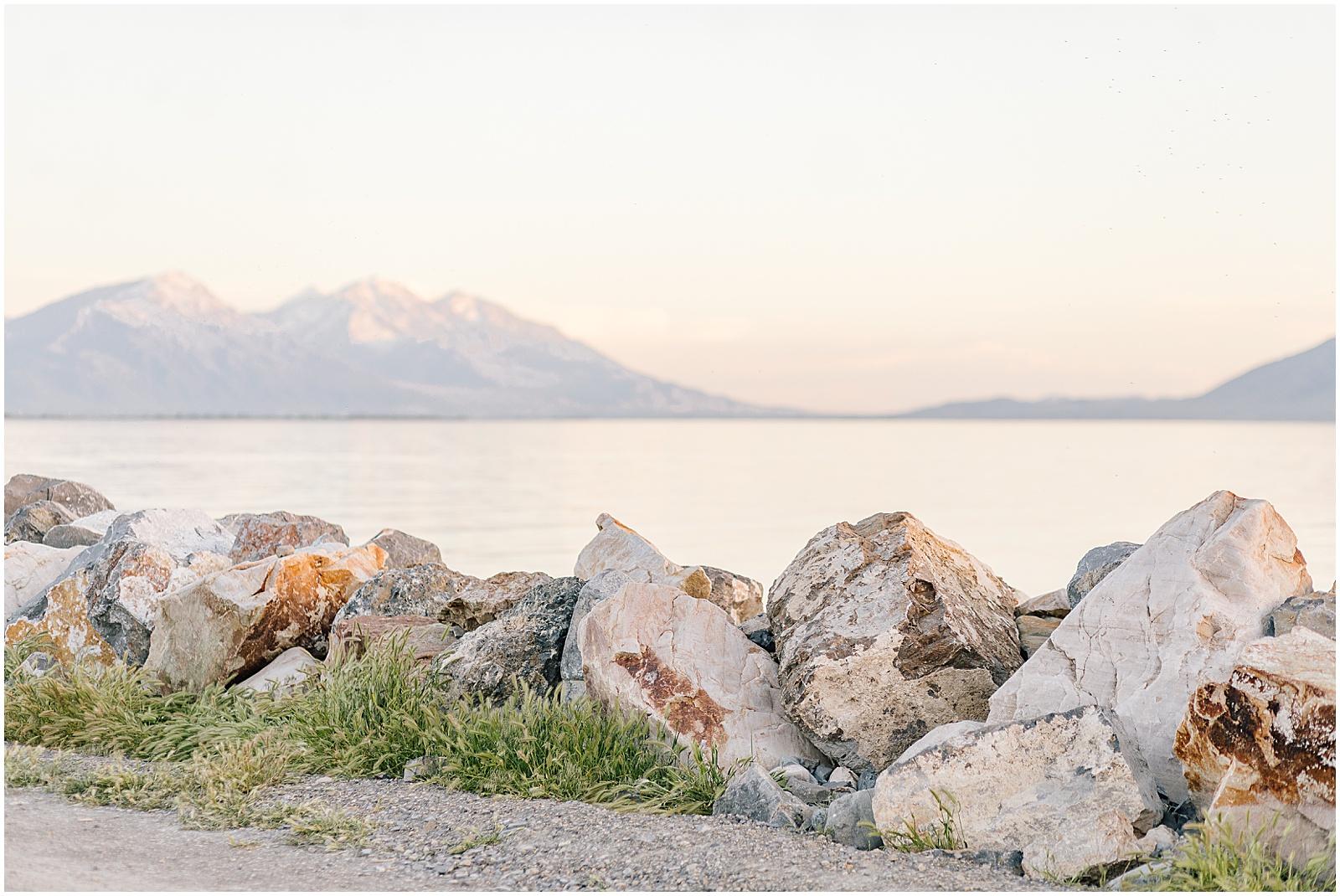 Utah Lake Engagement Session in Provo, Utah
