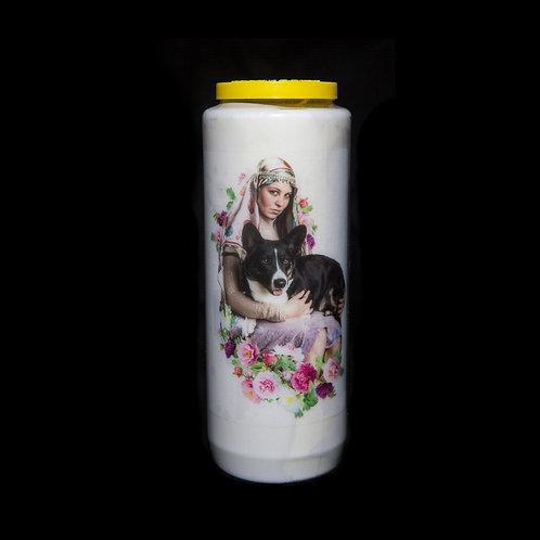Corgi Orgy novena candle
