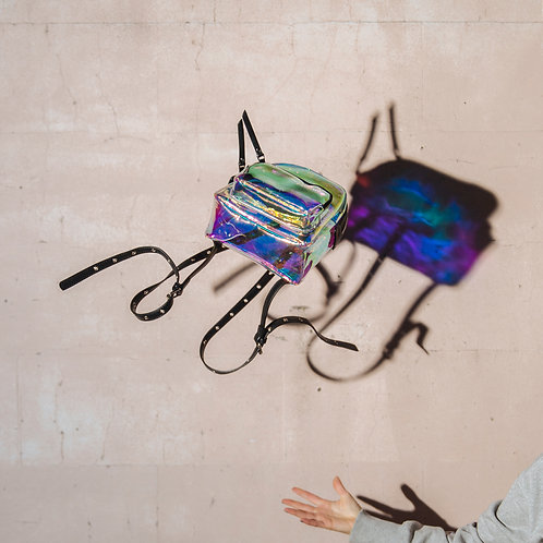 Holograpic mini backpack
