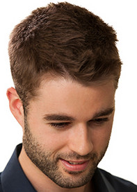 Tapered mens beard and hair