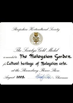 Birmingham The SHS Gold Medal Award 08 c