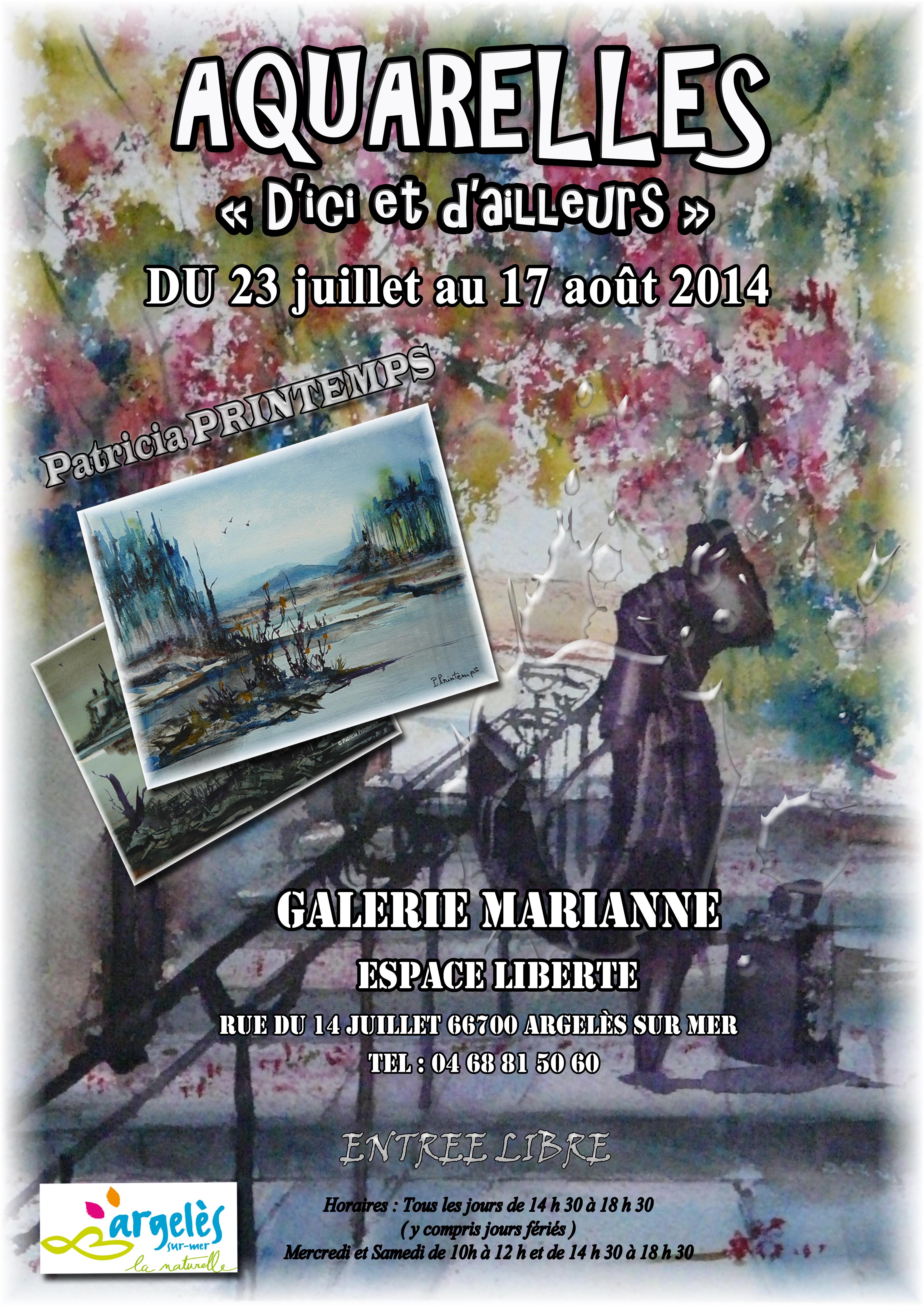 Affiche exposition Argelès sur mer