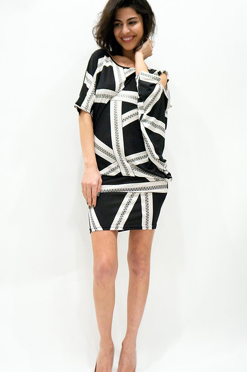 Asymmetric Pattern Dress