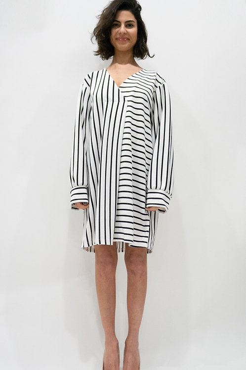 Stripe loose fit dress