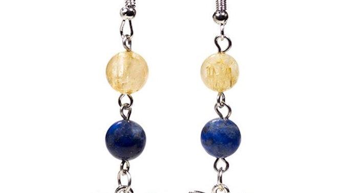 Boucles d'oreille Lapis Lazuli