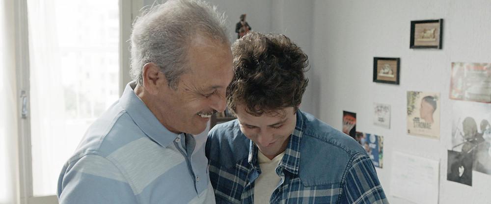 Mohamed Dhrif e Zakaria Ben Ayyed em cena do filme tunisiano Meu Querido Filho (2018) | Foto: Divulgação (Pandora Filmes)