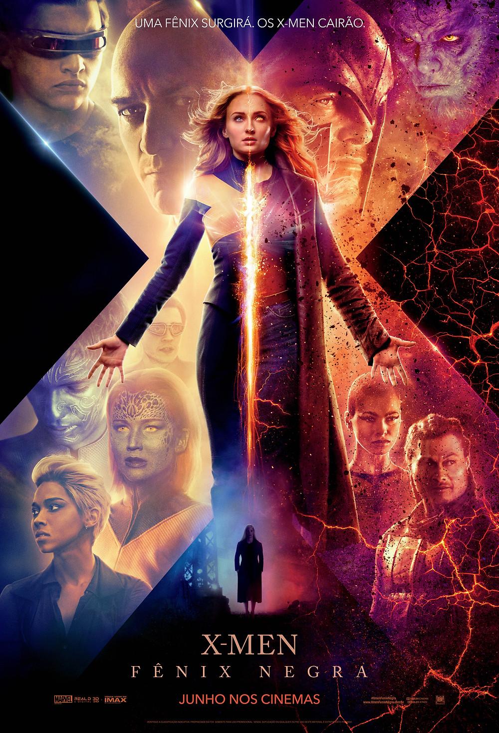 Pôster do filme X-Men: Fênix Negra (2019) | Divulgação (20th Century Fox)