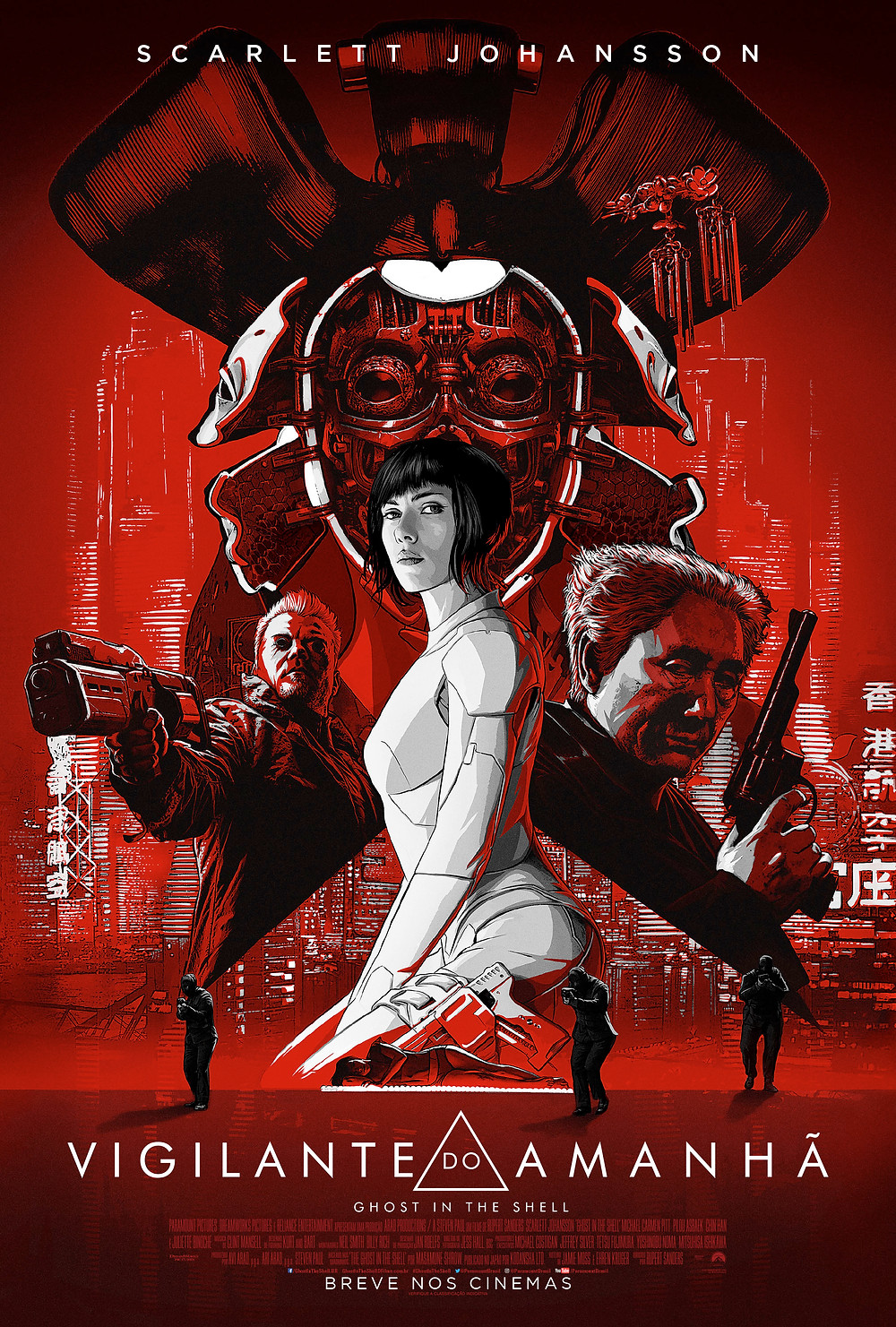 Cartaz do filme Vigilante do Amanhã: Ghost in the Shell (2017) | Divulgação (Paramount Pictures)