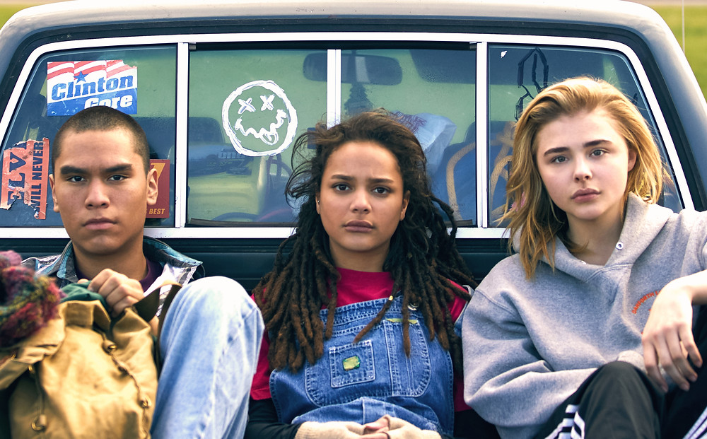 Forrest Goodluck, Sasha Lane e Chloë Grace Moretz em O Mau Exemplo de Cameron Post (2018) | Foto: Divulgação (Mostra Internacional de Cinema em São Paulo)