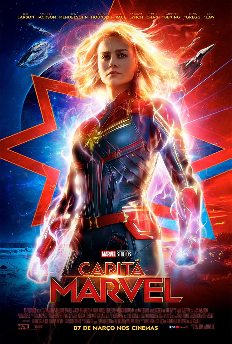 Pôster de Capitã Marvel (2019) | Divulgação (Disney)