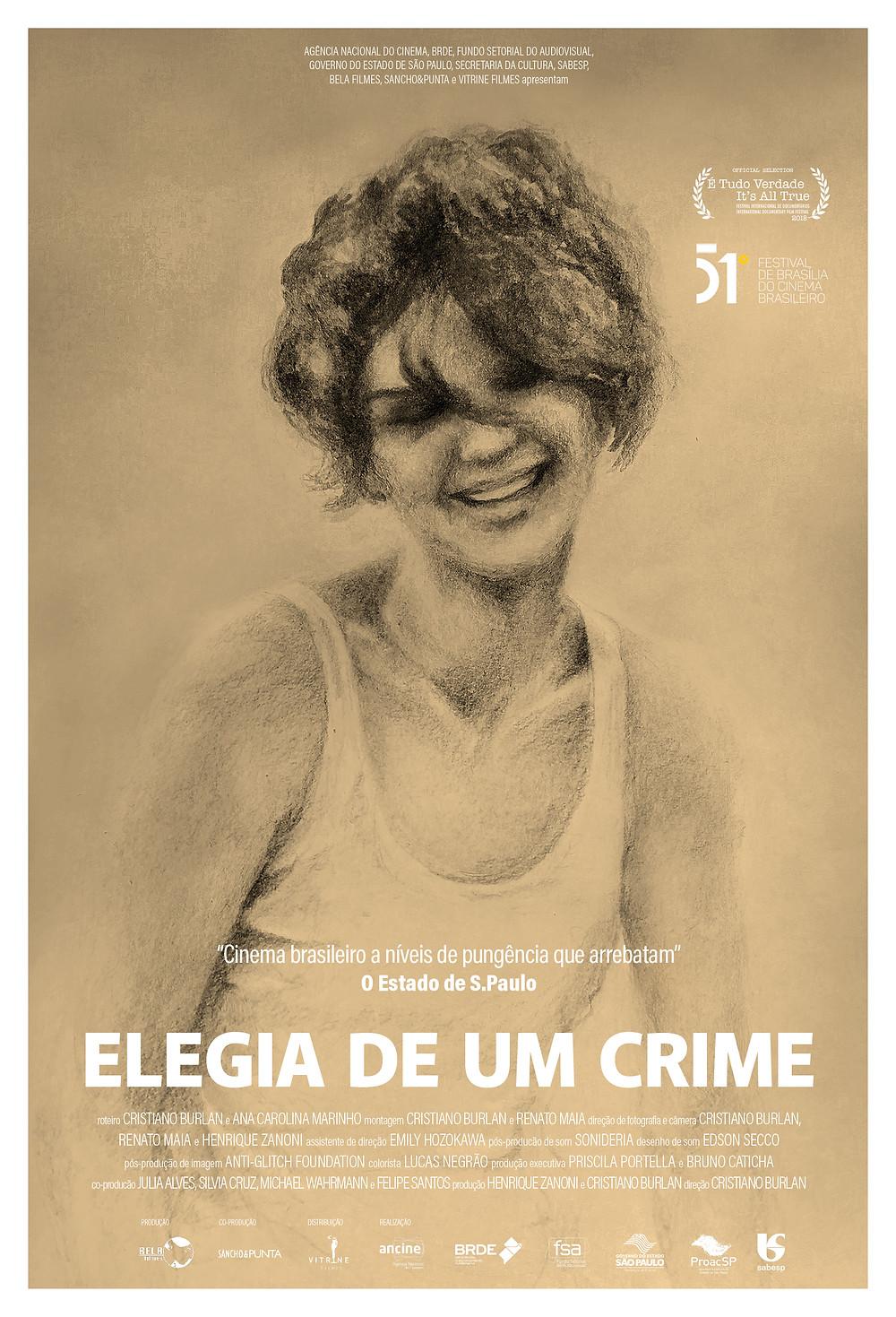 Cartaz do documentário Elegia de um Crime (2018) | Divulgação (Vitrine Filmes)