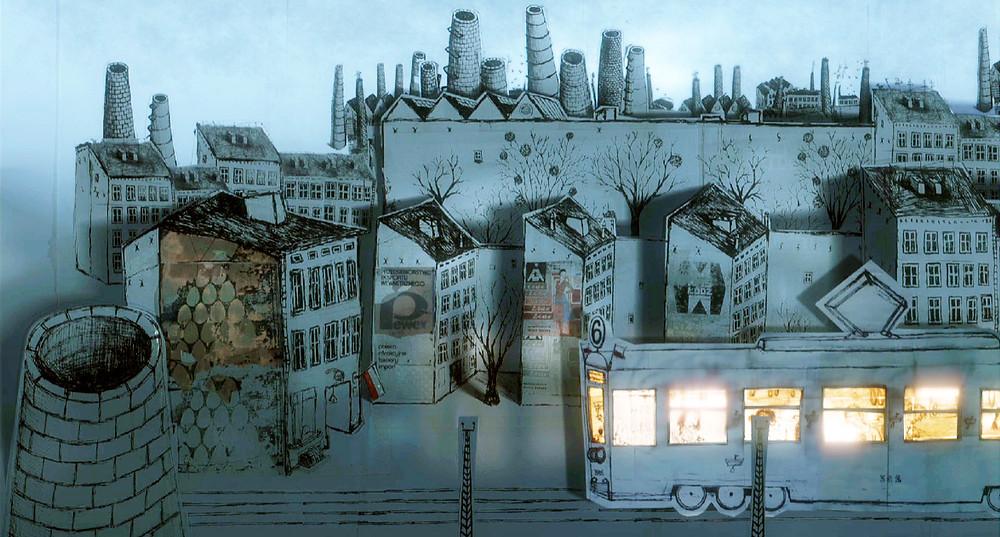 Cena da animação polonesa Mate-o e Deixe Esta Cidade (Zabij To I Wyjedz Z Tego Miasta, 2019), de Mariusz Wilczyński | Foto: Divulgação (Mostra Internacional de Cinema em São Paulo)