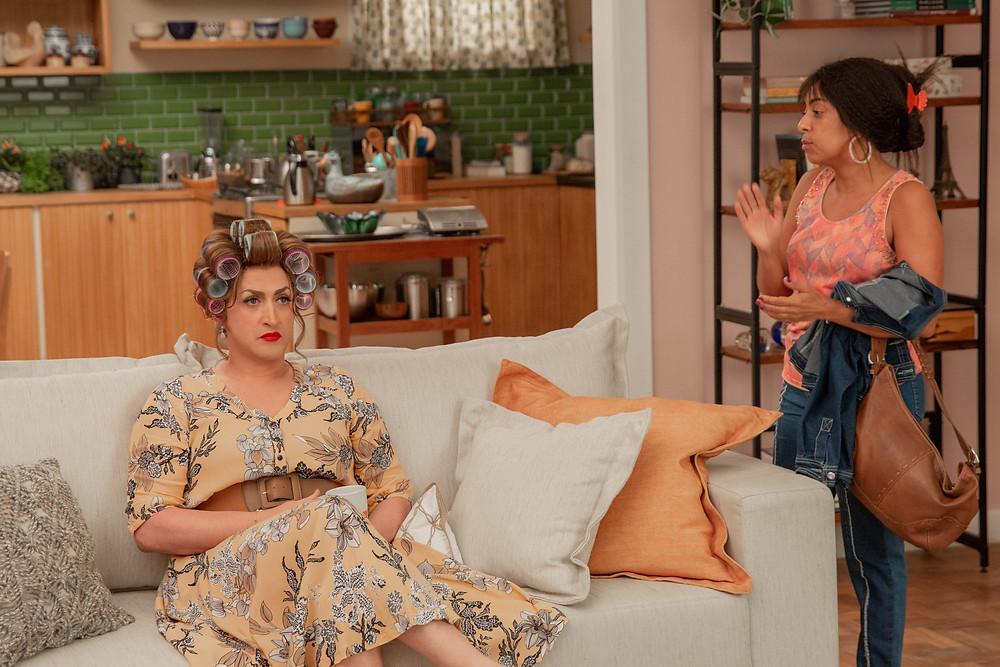 Paulo Gustavo e Samantha Schmütz em cena do filme nacional Minha Mãe É uma Peça 3 (2019) | Foto: Divulgação (Downtown Filmes)