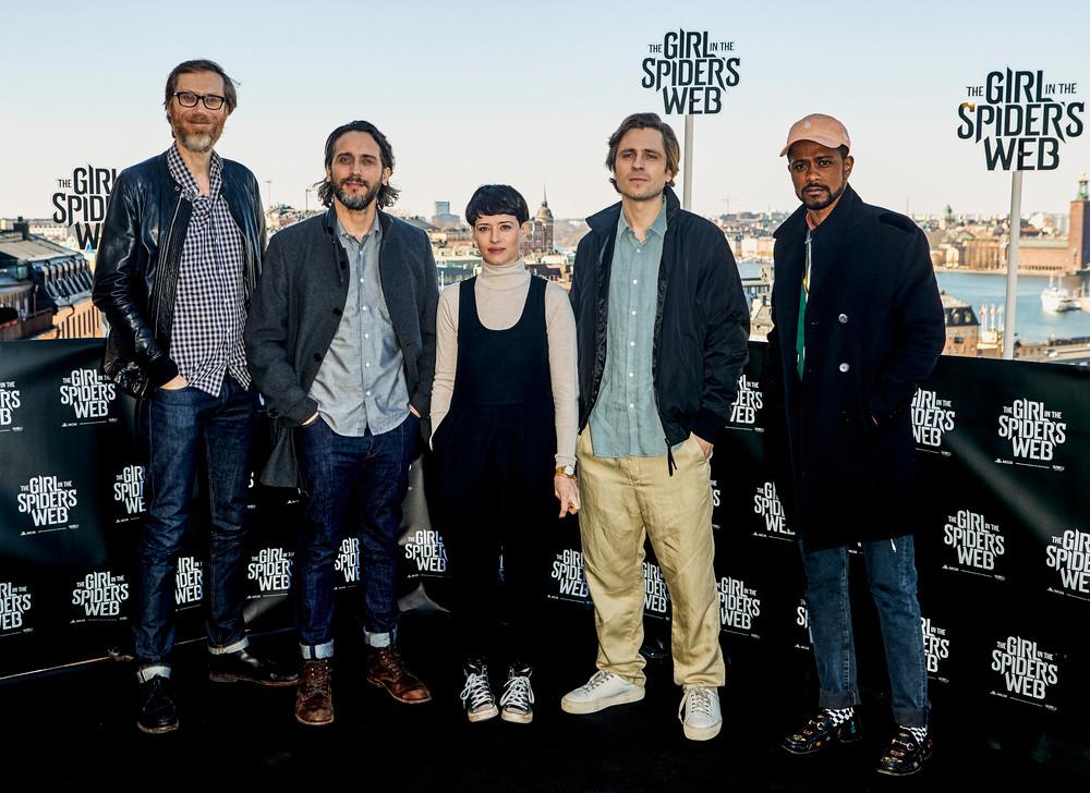 Stephen Merchant, Fede Álvarez, Claire Foy, Sverrir Gudnason e Lakeith Stanfield  (Divulgação: Sony Pictures)