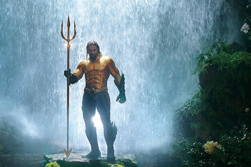 Jason Momoa em cena do filme Aquaman (2018) | Foto: Divulgação (Warner Bros. Pictures)