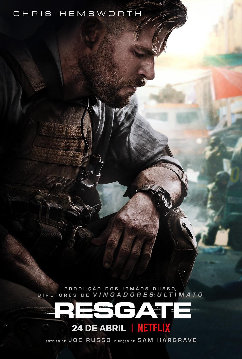 Pôster do filme de ação Resgate (2020) | Divulgação (Netflix)