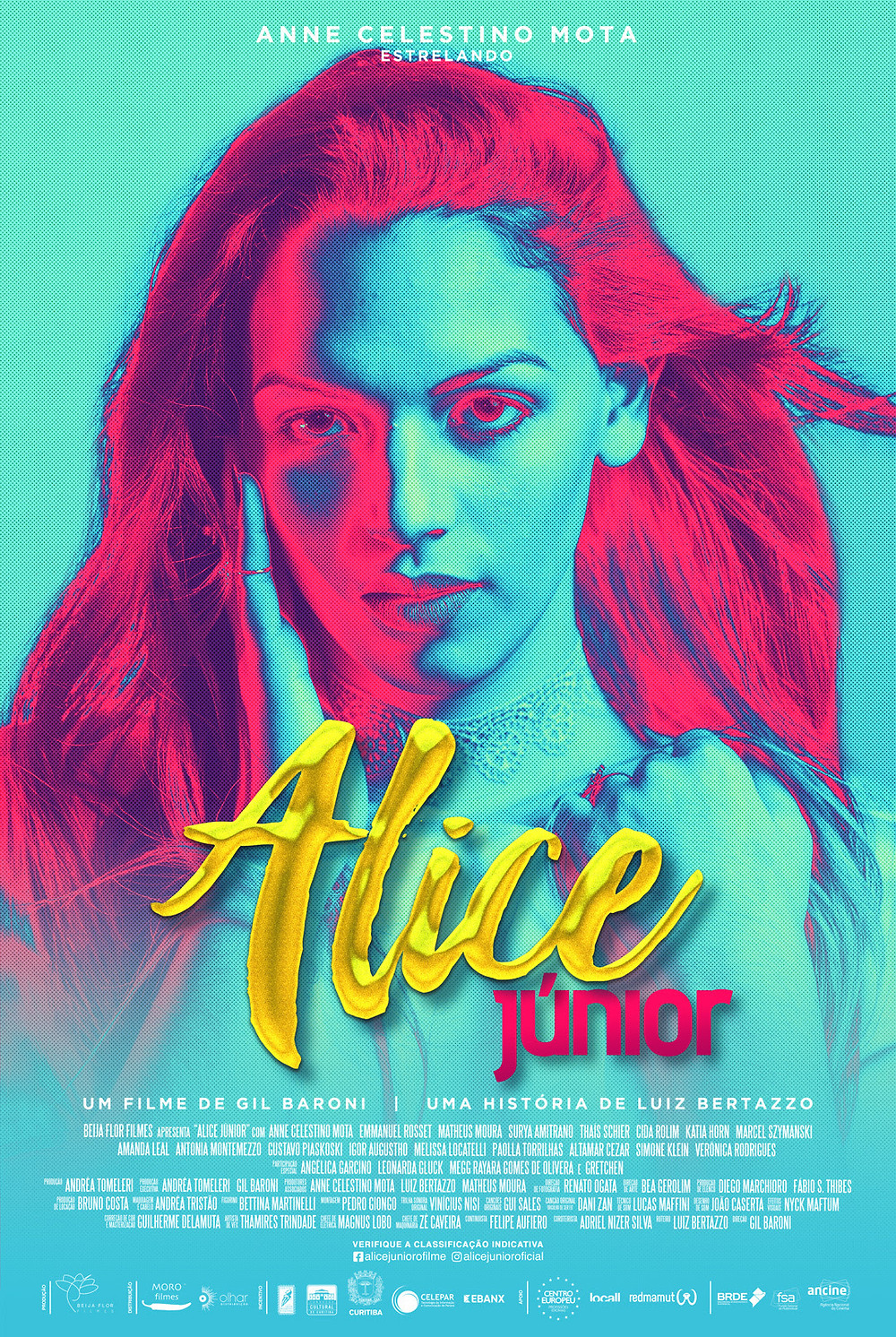 Cartaz do filme nacional Alice Júnior (2019), de Gil Baroni | Divulgação (Olhar Distribuição)