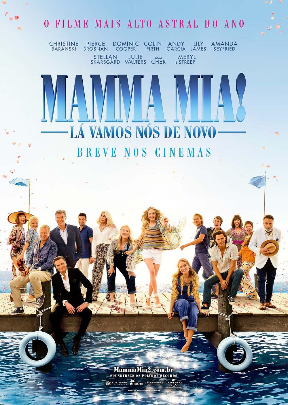Cartaz de Mamma Mia! Lá Vamos Nós de Novo (2018)   Divulgação (Universal Pictures)