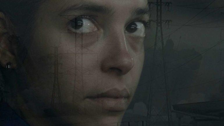 Carolina Castanho em cena do curta-metragem nacional A Máquina Infernal (2021), do paulista Francis Vogner dos Reis | Foto: Divulgação (Olhar de Cinema)