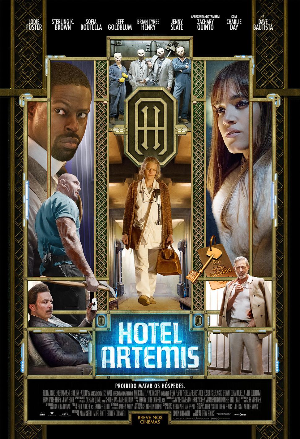 Cartaz do filme Hotel Artemis (2018) | Divulgação (Diamond Films)