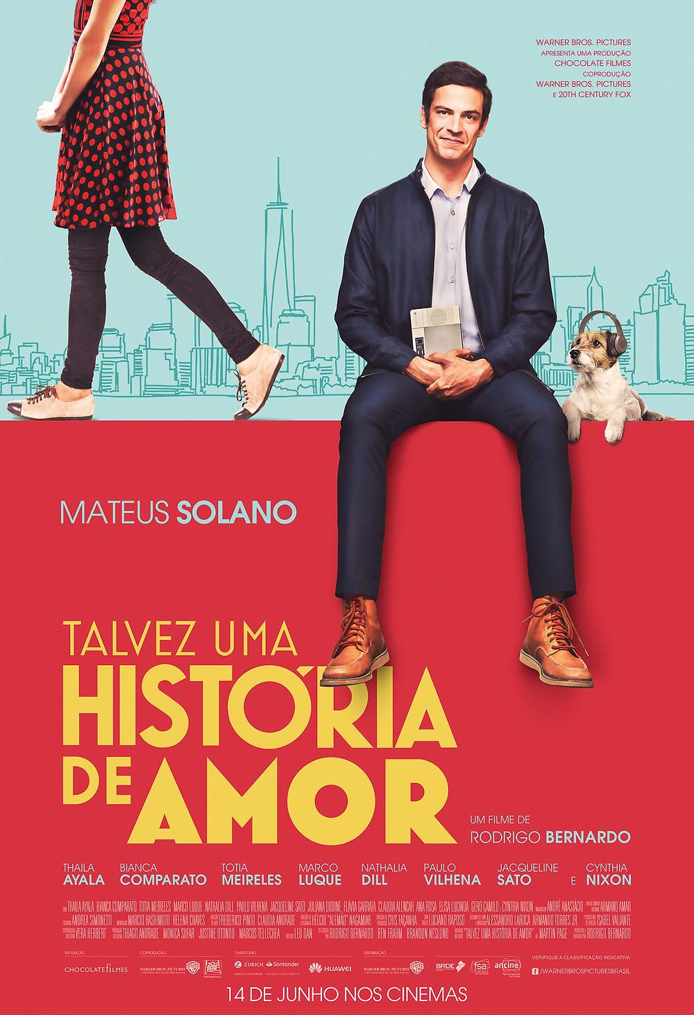Pôster de Talvez Uma História de Amor (2018) | Divulgação (Warner Bros. Pictures)