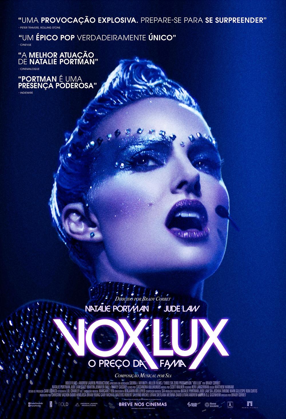 Cartaz do filme Vox Lux – O Preço Da Fama (2018) | Divulgação